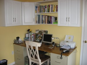 Organized Home Office with a Vision