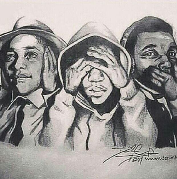 emmett till, trayvon martin, mike brown